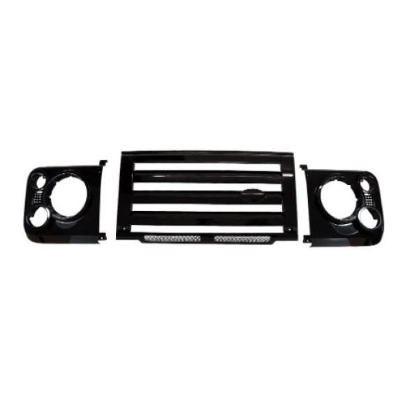 Bearmach SVX Style Black Grille Kit for Land Rover Defender