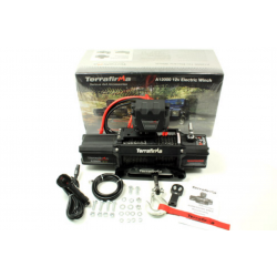 TERRAFIRMA A12000 4x4 Recovery Winch 12,000lb 12v Synthetic Rope