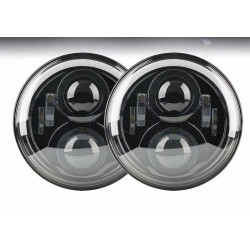 LED HEAD LIGHTS FOR DEFENDER-RANGE ROVER CLASSIC (PAIR)