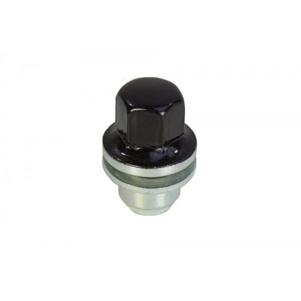 GLOSS BLACK WHEEL NUT LATER HUB TYPE 14 X 1.5 FLAT SEATED SUITABLE FOR L322 RANGE ROVER SPORT AND DISCOVERY 3 & 4 VEHICLES