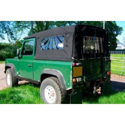 Exmoor 90 Full Hood Black Canvas TD5/TD4 Only for Land Rover Defender